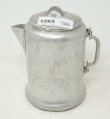 VINTAGE ALUMINUM COFFEE PERCOLATOR