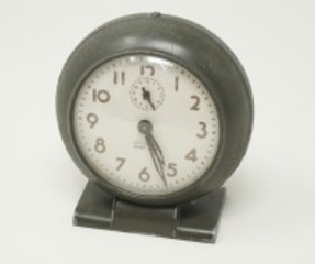 VINTAGE WESTCLOX BABY BEN ALARM-CLOCK MARKED 1942, US AIR CORPS, GUAM