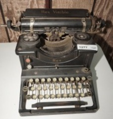 ANTIQUE REX VISIBLE TYPEWRITER
