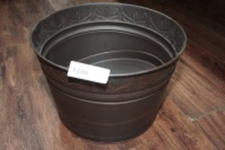 STAMPED METAL PLANTER
