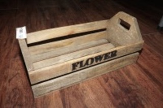 FLOWERS HANDMADE WOODEN CRATE