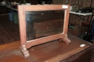 VINTAGE DOUBLE SIDED COUNTER / TABLE TOP MIRROR