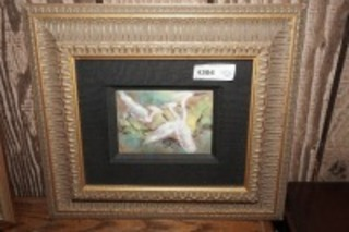 NICELY FRAMED AND MATTED ART, WATER BIRDS