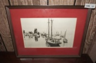 FRAMED, MATTED, AND SIGNED LIONEL BARRYMORE ART