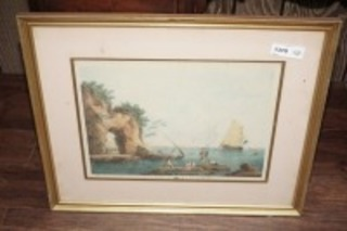 FRAMED AND MATTED ART, EARLY RIVER MOUTH SCENE