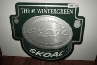 METAL SIGN, SKOAL