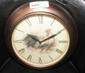 ROOSTER MOTIF WALL CLOCK