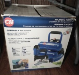 CAMPBELL HAUSFELD 2 GALLON AIR COMPRESSOR KIT WITH ORIGINAL BOX
