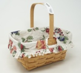 LONGABERGER BASKET WITH FRUIT MOTIF LINER