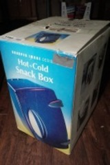 SHARPER IMAGE HOT PLUS COLD SNACK BOX WITH ORIGINAL BOX