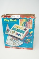 VINTAGE FISHER PRICE TOYS PLAY DESK WITH ORIGINAL BOX