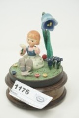 EDELWEISS REUGE SWISS MUSICAL MOVEMENT FIGURINE