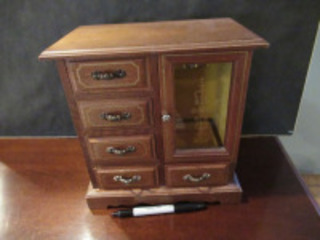 WOODEN JEWELRY BOX - (BR1)