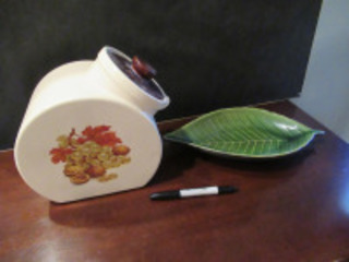 CANISTER AND LEAF DISH - (BR1)