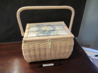 WOVEN SEWING BASKET - (BR1)