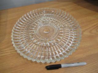 DIVIDED GLASS DISH - (LR)