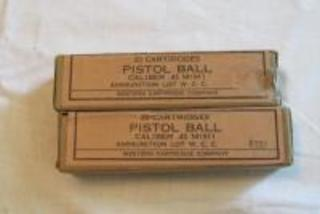 Military Pistol Ball Caliber .45 M1911