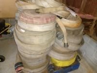 SET OF 20 PLUS VARIOUS SIZE FIRE WATER HOSES, CONDITION UNKNOWN