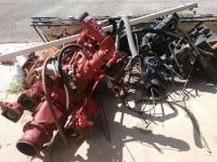 GROUP LOT OF HEAVY SCRAP, OLD FIRE ENGINE WATER PUMPS