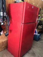FIRE STATION FRIDGE. SELLER STATES THE FREEZER WORKS BUT THE FRIDGE PART DOESN'T WORK PROPERLY