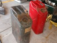 SET OF TWO OLD ARMY STYLE GAS CANS