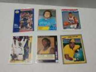 SET OF SIX RANDOM CARDS TO INCLUDE KOBE BRYANT, SCOTTIE PIPPEN AND OTHERS