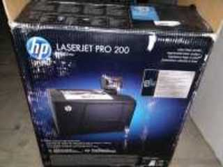 HP LASERJET PRO 200, M251NW, COLOR LASER PRINTER IN ORIGINAL BOX WORKING CONDITION UNKNOWN