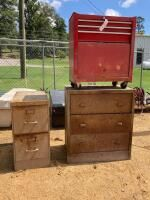 Craftsman Tool Box, 2 File Cabinets