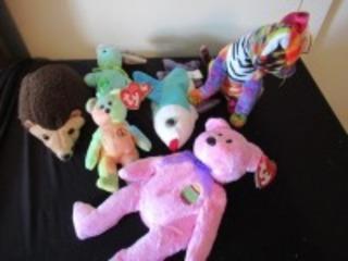 6 TY BEANIE BABIES - USL
