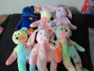 6 BEANIE BABIES - USR
