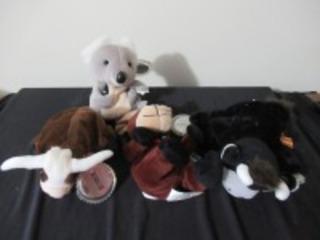 4 COCA- COLA STUFFED ANIMALS -USR