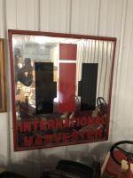 International Harvester mirror sign. 35 by 31.5