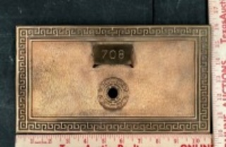 Brass Post Office Box Cover