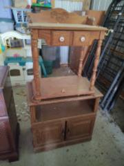 Vintage wooden wash stand & media cabinet