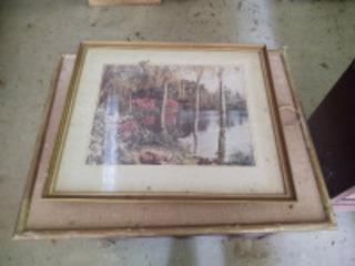 Assortment of framed art