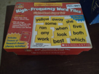 Scholastic high frequency word tiles