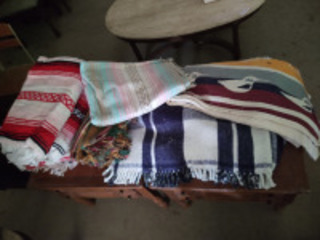 Assortment of blankets