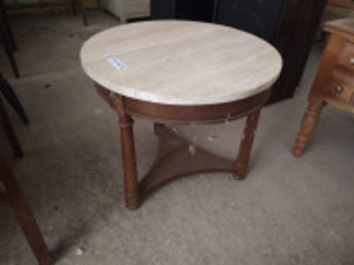 Vintage marble top round end table (matches 663 & 679)
