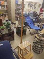 Step stool & coat rack(hall tree)