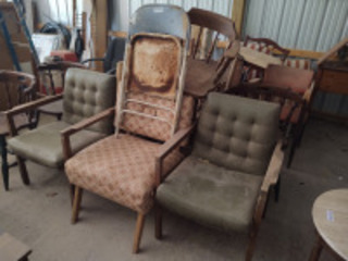 Large assortment of chairs