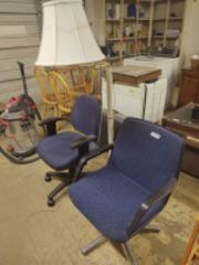 (2) chairs & floor lamp