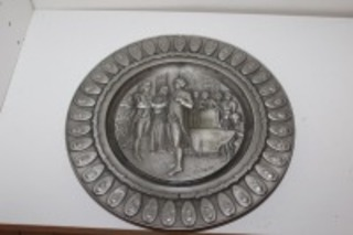 INTERNATIONAL PEWTER LIMITED EDITION COLLECTOR'S PLATE THE PRESIDENTIAL OATH OF OFFICE NUMBERED
