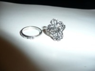LOT OF TWO STERLING SILVER RINGS