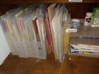 Metal Paper Organizer and Scrapbook Paper