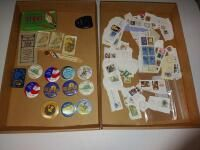 Collectors Stamps  Bird Id s and KWF Buttons