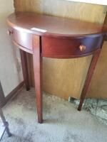 Half round table 24in x 12in