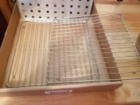 Copper Chef cook pan  cooling racks  2 small sauce pans