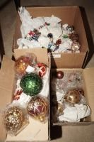 THREE BOXES OF CHRISTMAS ORNAMENTS - LIV