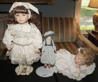 COLLECTIBLE PORCELAIN DOLLS INCLUDING REBECCA - LIV