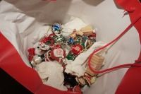 BAG FILLED WITH CHRISTMAS ORNAMENTS - LIV